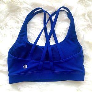 Lululemon Energy Bra Size 2 Color Blue